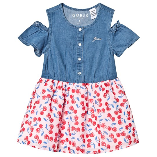 Guess Blue Denim Cherry Print Dress LBDW