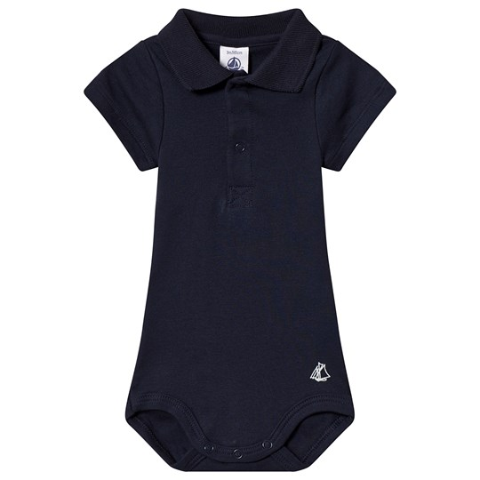 Petit Bateau Body Mc Col Polo Smokin Navy Smoking