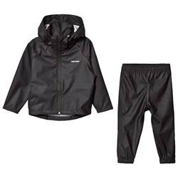 Tretorn Kids Packable Rain Set Black