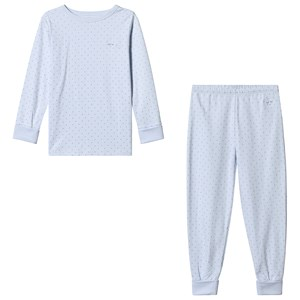 Image of Livly 2 Piece Pajama Baby Blue/silver Dots 8 år (3125341027)