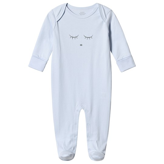 Livly Sleeping Cutie Cover Footed Baby Body Blue/grey Blue/grey