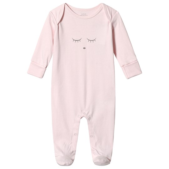 Livly Sleeping Cutie Cover Footed Baby Body Pink/grey Pink/Grey