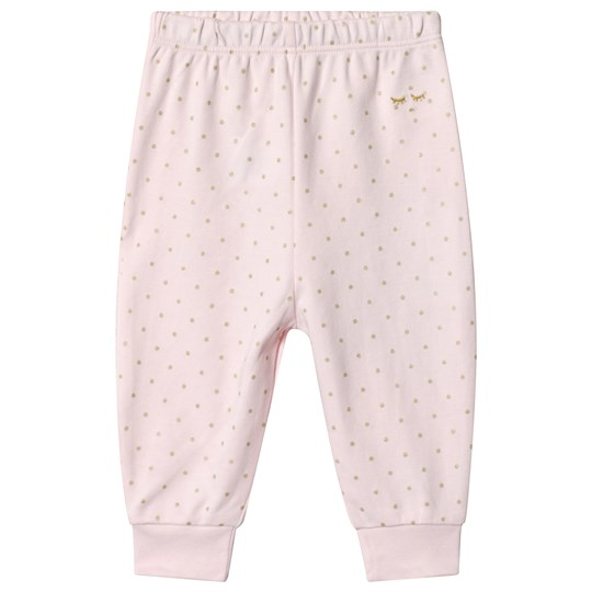Livly Saturday Pants Baby Pink/Gold Dots Pink