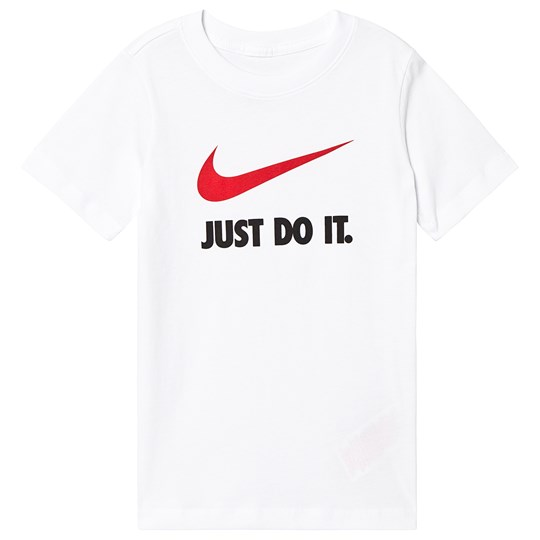 NIKE White Branded Just Do It Swoosh Tee 100