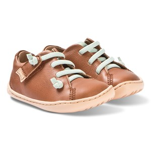 Image of Camper Brown Peu Cami Leather Velcro Sneakers 21 (UK 4.5) (3125318341)