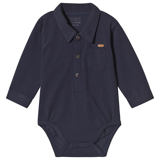 Hust&Claire Bror Baby Body Blue Navy