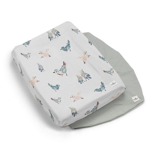 Elodie Details 2-Pack Changing Pad Covers - Feathered Friends Feathered Friends