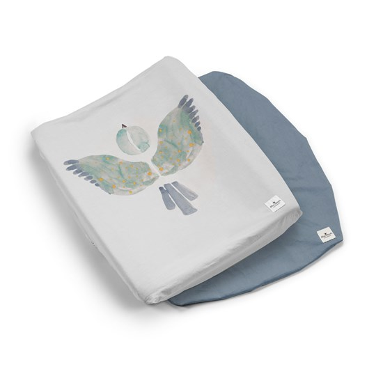 Elodie 2-Pack Changing Pad Covers - Watercolor Wings Watercolor Wings