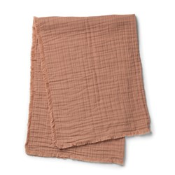 Elodie Soft Cotton Blanket - Faded Rose