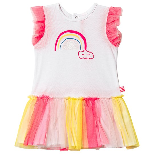 Billieblush White Rainbow Tutu Dress