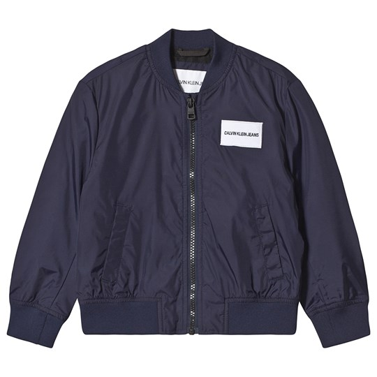 Calvin Klein Jeans Navy Logo Light Bomber Jacket 400