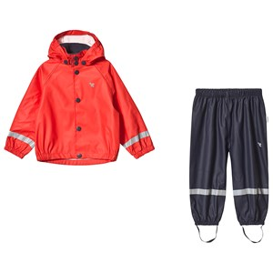Image of Muddy Puddles Red Rain Jacket & Navy Rain Pants Set 12-18 months (1230622)