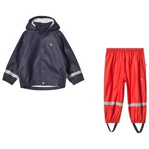 Image of Muddy Puddles Navy Rain Jacket & Red Rain Pants Set 12-18 months (1230630)