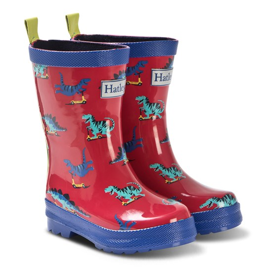 Hatley Red Scooting Dinos Rain Boots RED DINOS