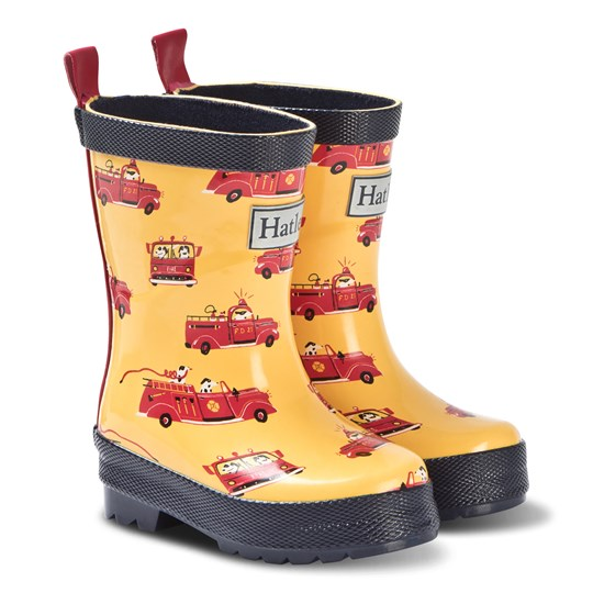 Hatley Yellow Vintage Fire Trucks Rain Boots YELLOW FIRE TRUCKS