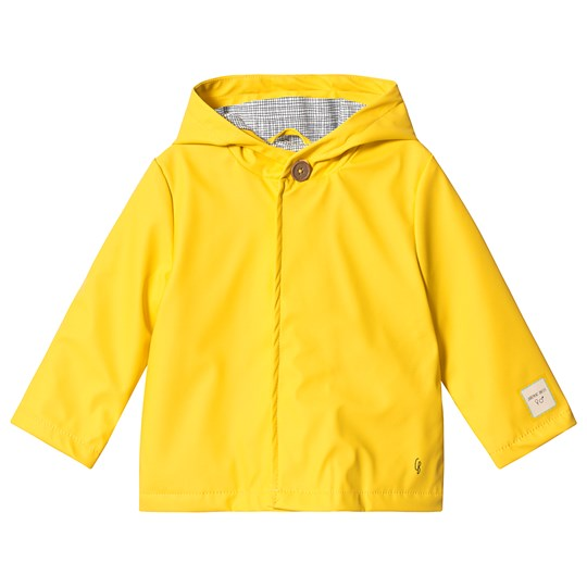 Carrément Beau Yellow Hooded Raincoat 520
