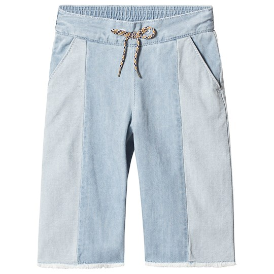 Chloé Blue Straight Leg Jeans with Raw Hems