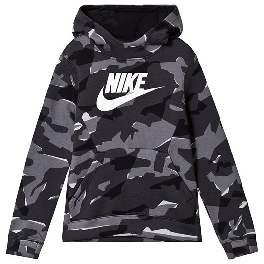 NIKE Black and Grey Branded Camo Hoodie 010