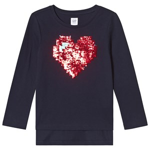 Image of GAP Graphic Long Sleeve Tee Navy XS (4-5 år) (3125319341)
