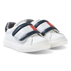 Tommy Hilfiger White Large Velcro Strap Sneakers