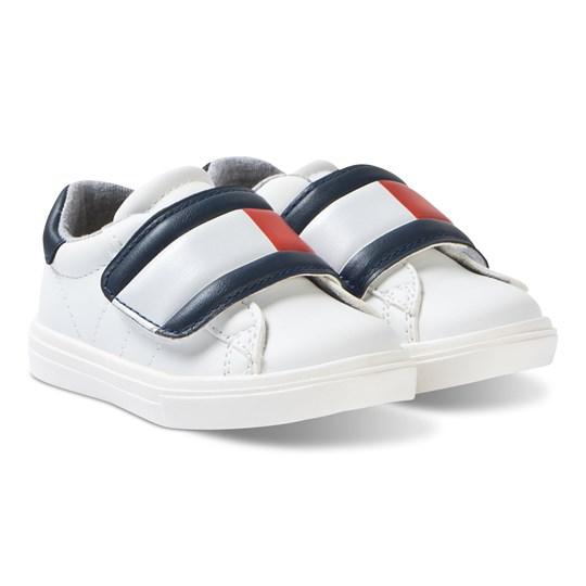 Tommy Hilfiger White Large Velcro Strap Sneakers Y003