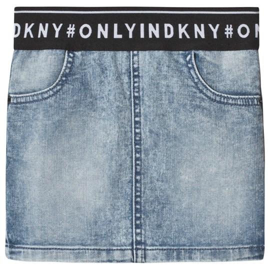 DKNY Blue Light Wash Skirt Z02