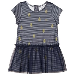 IKKS Navy Pineapple Stripe Tulle Dress
