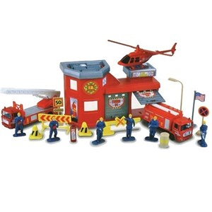Image of Motormax Fire Station Playset 20pcs 3 - 12 år (3125229353)