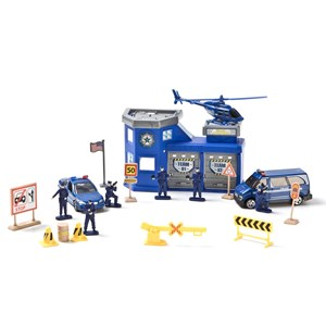 Image of Motormax Police Station Playset 20pcs 3 - 12 år (3125229355)