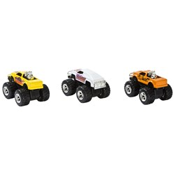 Motormax Pull-Back Monster Trucks 3 pcs