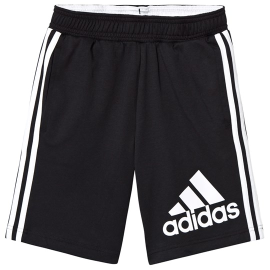 adidas Performance Black Big Logo Track Shorts Black