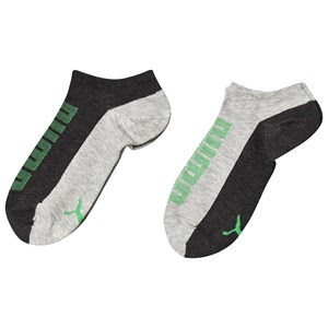 Image of Puma 2-Pack Socks Grey/Green 27-30 (4-6 år) (3125344761)