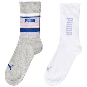 Image of Puma 2-Pack Socks Stripe Purple Combo 27-30 (4-6 år) (3125343673)