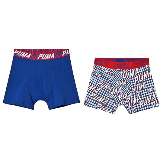 Puma Basic Boxer Race Rats Print 2-Pack Red Blue red blue