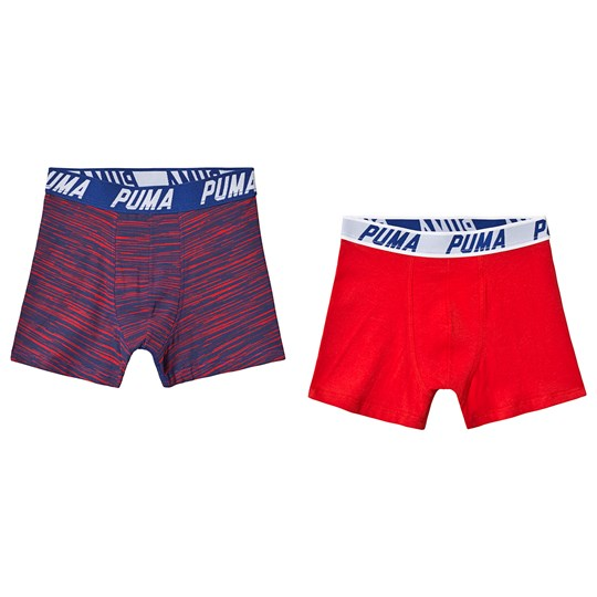 Puma Basic Boxer Space Dye 2-Pack Red/Blue red blue