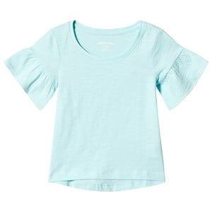 Image of Lands' End Aqua Ruffle Sleeve Top 10-12 years (3125342517)