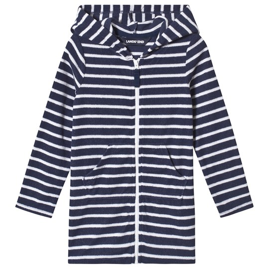 c17fc05b1ea13 Lands' End - Navy/White Stripe Hooded Beach Cover Up - Babyshop.com