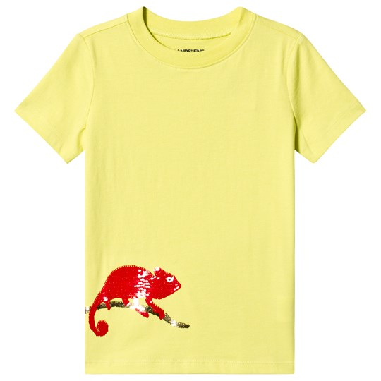 Lands' End Yellow Sequin Chameleon Tee H5N
