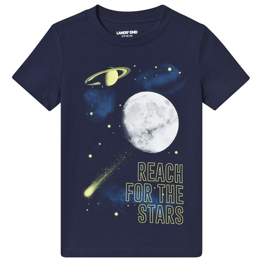 Lands' End Navy Space Glow Print Tee A24