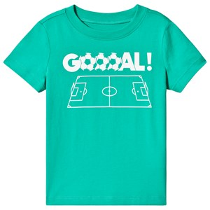 Image of Lands' End Green Football Print Tee 10-11 years (3125348649)