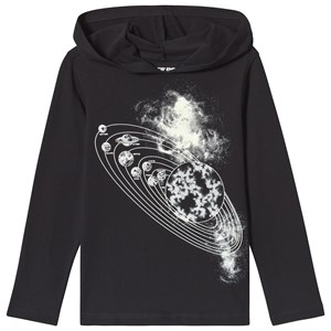 Image of Lands' End Black Glow Solar System Hoodie 4 years (3125348739)