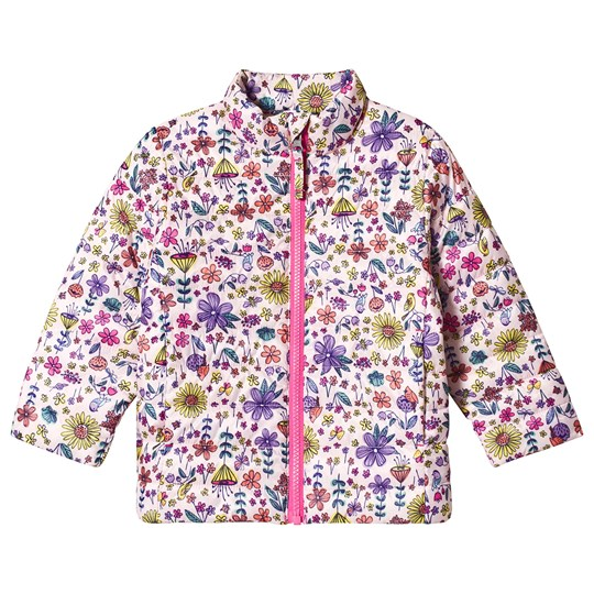Lands' End Pink Floral Thermoplume Coat C2V
