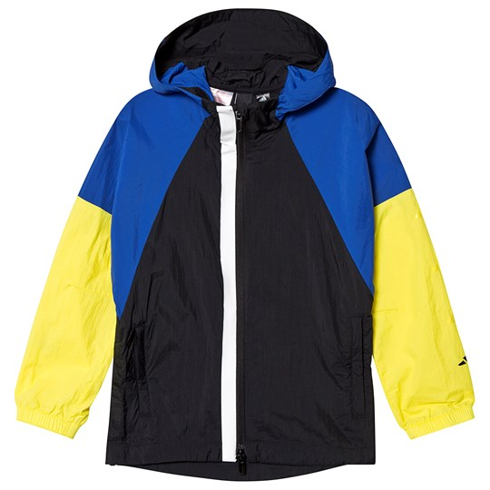 adidas Performance Black and Yellow Windbreaker black/collegiate royal/shock yellow