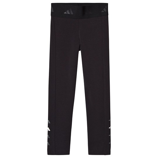 adidas Performance Black Branded Leggings black/grey five