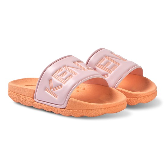 Kenzo Pink/Orange Branded Slides 79