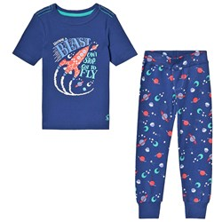 Joules Blue Rocket Pajamas