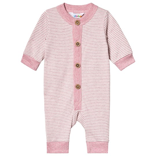 Joha Striped Knit One-Piece Pink Striped Knit Purpel