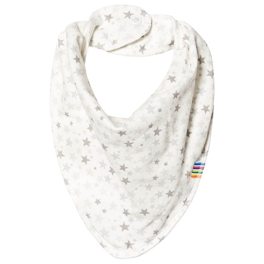 Joha Mini Star Dribble Bib White/Grey Mini Stars