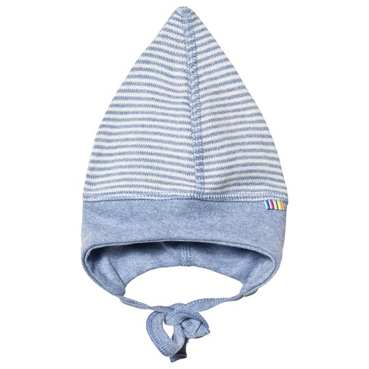 Joha Striped Knit Baby Hat Blue Striped Knit Blue