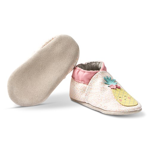 Leather Crib Shoes Sweet Pineapple/Off